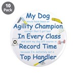 """Agility Champion 3.5"""" Button (10 pack)"""