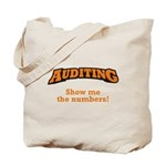 Auditing / Numbers Tote Bag