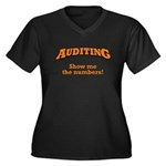 Auditing / Numbers Women's Plus Size V-Neck Dark T