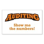 Auditing / Numbers Sticker (Rectangle)