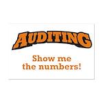 Auditing / Numbers Mini Poster Print