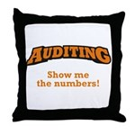 Auditing / Numbers Throw Pillow
