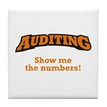Auditing / Numbers Tile Coaster