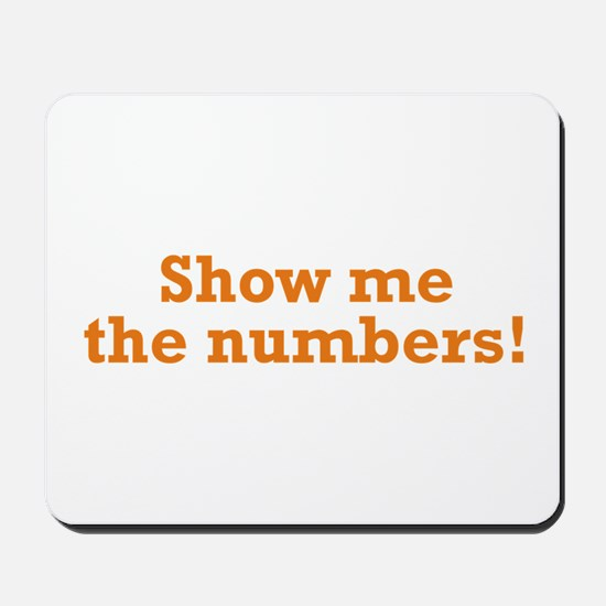 Show me the numbers! Mousepad