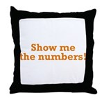Show me the numbers! Throw Pillow