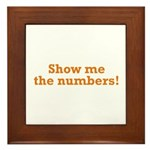 Show me the numbers! Framed Tile