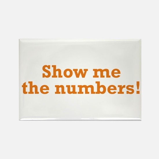 Show me the numbers! Rectangle Magnet