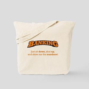 Banking-Numbers Tote Bag