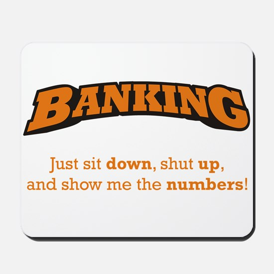Banking-Numbers Mousepad