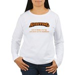 Auditing-Numbers Women's Long Sleeve T-Shirt