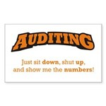 Auditing-Numbers Sticker (Rectangle)