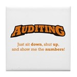 Auditing-Numbers Tile Coaster