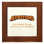 Auditing-Numbers Framed Tile