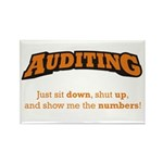 Auditing-Numbers Rectangle Magnet (100 pack)