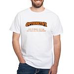 Optometry / Machine White T-Shirt