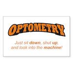 Optometry / Machine Sticker (Rectangle)