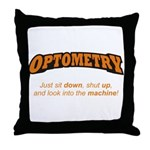 Optometry / Machine Throw Pillow