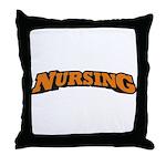 Nursing (Orange) Throw Pillow