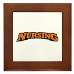 Nursing (Orange) Framed Tile