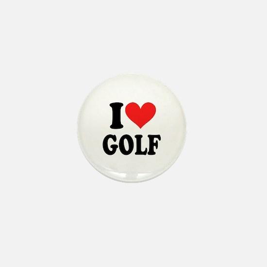 I Heart Golf: Mini Button
