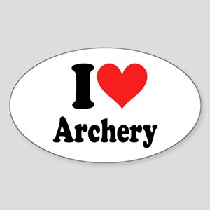 I Heart Archery: Sticker (Oval)