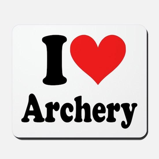 I Heart Archery: Mousepad
