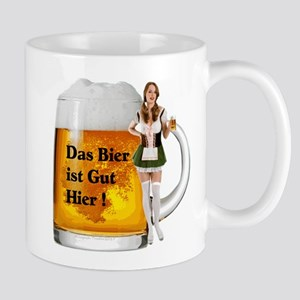 German Beer Girl Mugs