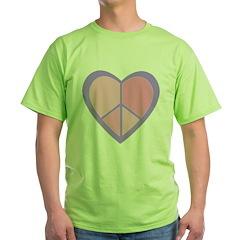 Peace Heart in Pink & Purple T-Shirt