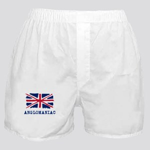 Anglomaniac with Union Jack Boxer Shorts