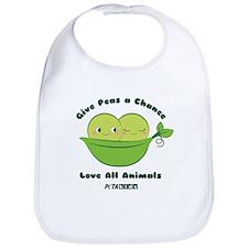 Give Peas A Chance Baby Bib