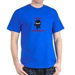Ninja Bartender with Martini Dark T-Shirt