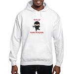 Ninja Bartender with Martini Hooded Sweatshirt