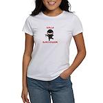 Ninja Bartender with Martini Women's T-Shirt