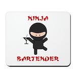 Ninja Bartender with Martini Mousepad