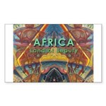 Africa.3 Land of Beauty Rectangle Sticker