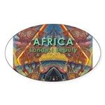 Africa.3 Land of Beauty Oval Sticker