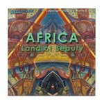 Africa.3 Land of Beauty Tile Coaster