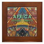 Africa.3 Land of Beauty Framed Tile