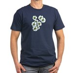 Blossoms Men's Fitted T-Shirt (dark)