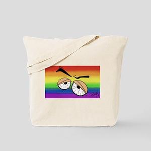 BLOOD SHOT EYES gay rainbow art Tote Bag