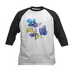 Watercolor Flowers Kids Baseball Jersey