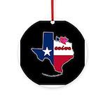 ILY Texas Ornament (Round)
