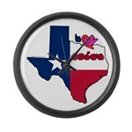 ILY Texas Large Wall Clock