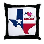 ILY Texas Throw Pillow