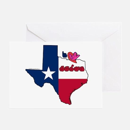 ILY Texas Greeting Card