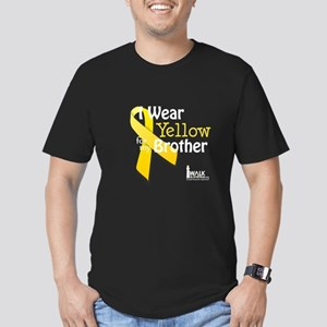 Yellow for Brother Men's Fitted T-Shirt (dark)