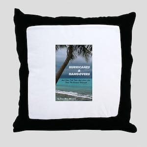 Hurricanes & Hangovers Throw Pillow