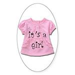 It's a Girl Sticker (Oval 10 pk)
