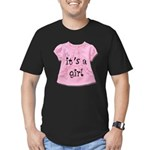 It's a Girl Men's Fitted T-Shirt (dark)
