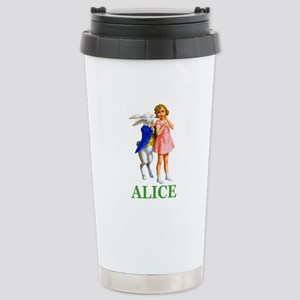 ALICE & THE WHITE RABBI Stainless Steel Travel Mug